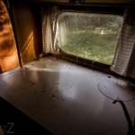 Ödehusvagnen övergiven husvagn dammigt