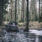 Rörken Januari 2018 ute i skogen skogen rörken offroad lera granar